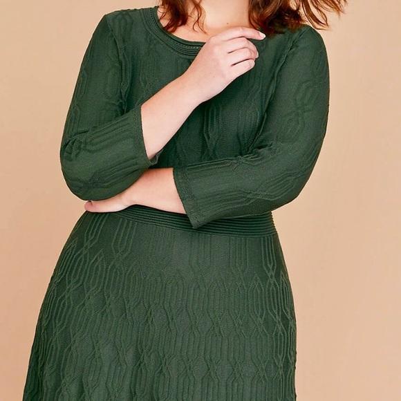 c3278207242 Lane Bryant green sweater dress